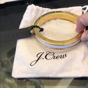 J. Crew gold and white bengal bracelet